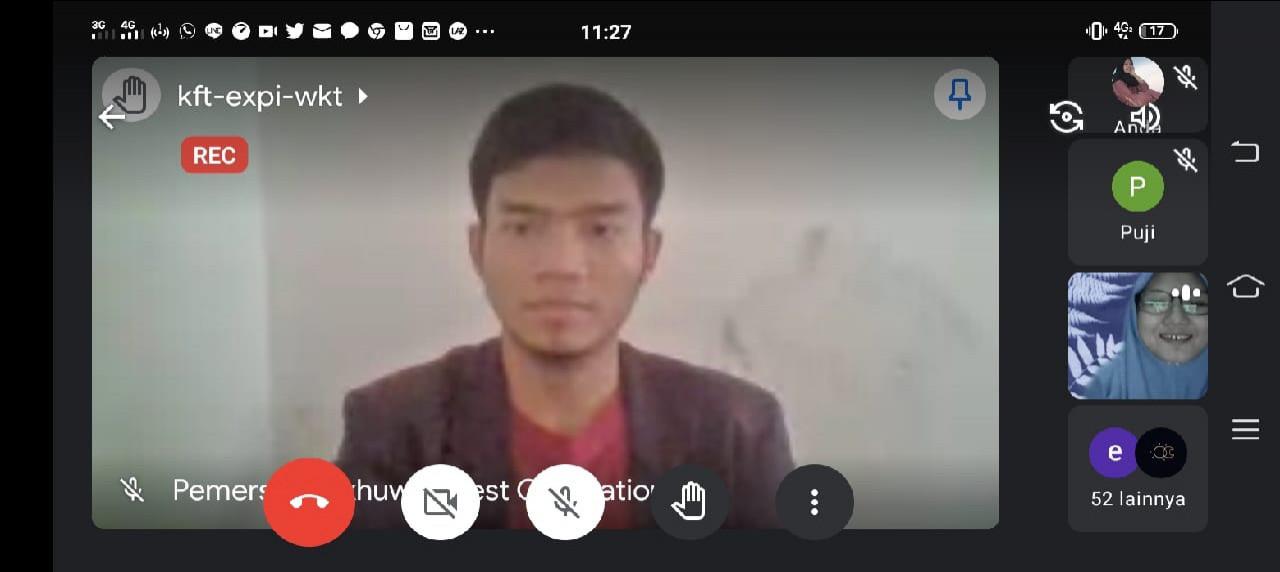 Webinar dari Lembaga Dakwah Kampus Universitas Internasional Semen Indonesia (LDK UISI)