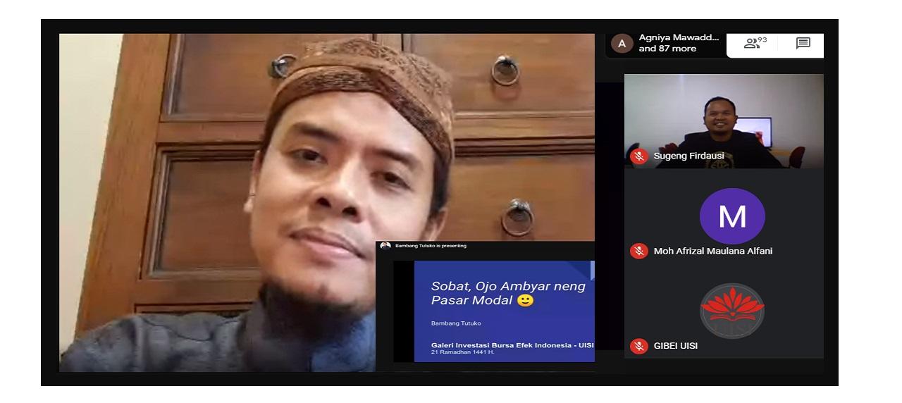 Pembukaan materi kelas calon investor oleh Dr. Bambang Tutuko, S.E.,M.M.,CFP