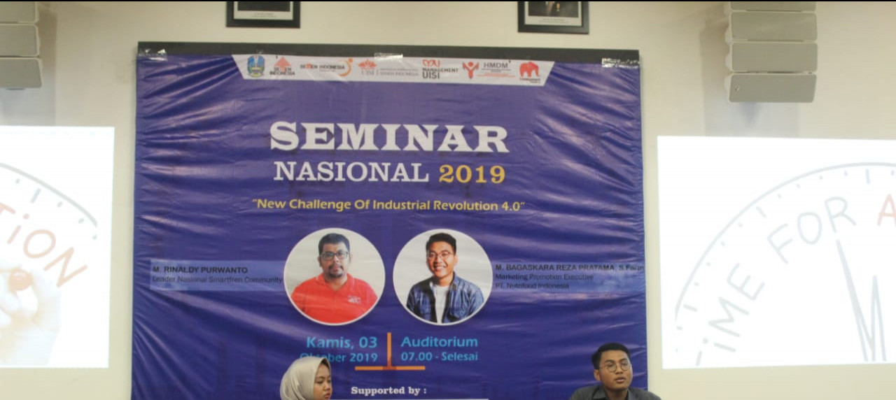 Himpunan Mahasiswa Departemen Manajemen UISI sukses menggelar acara seminar M-Bion 2019.