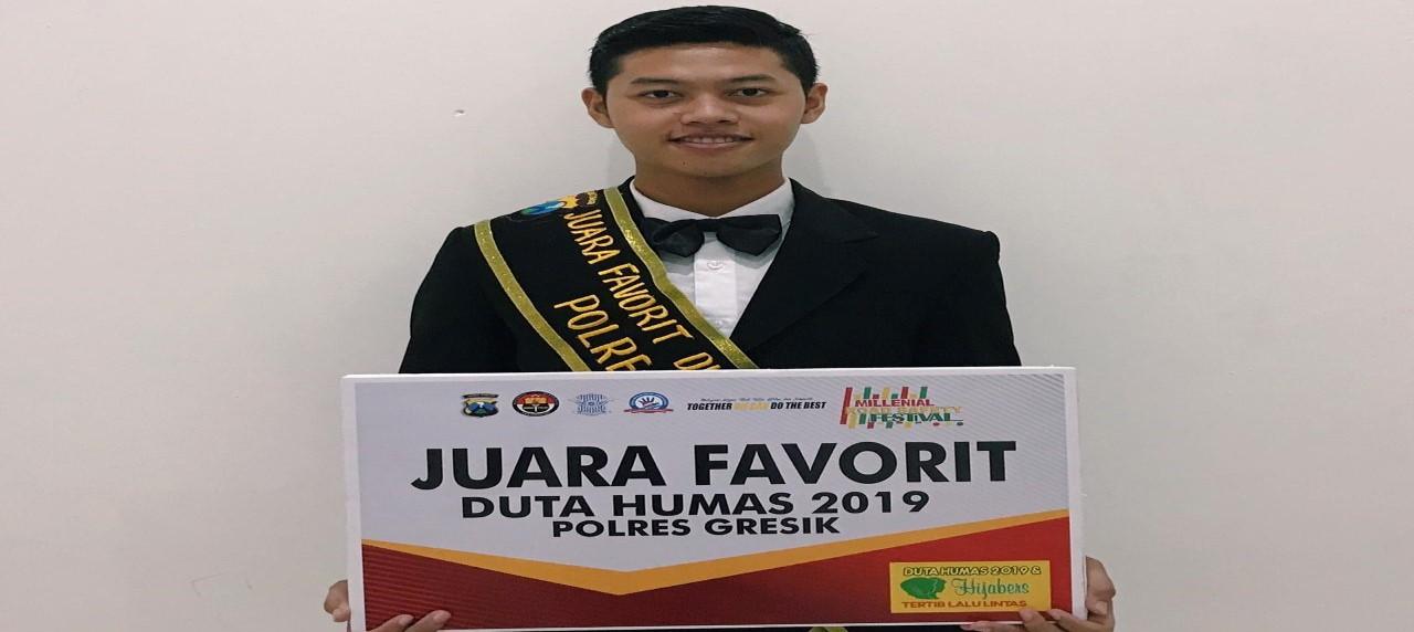 Sosok Alfan Kris Rianto peraih juara favorit Duta Humas Polres Gresik