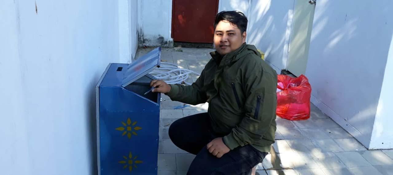 Uji coba tempat sampah SMART IN