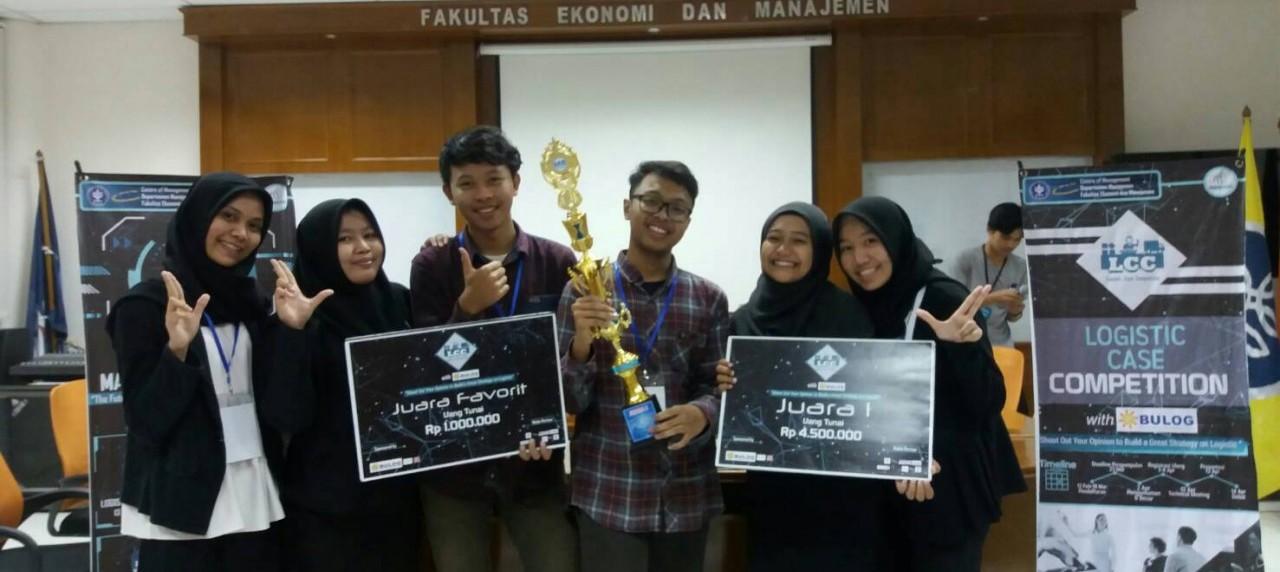 Mahasiswa Teknik Logistik UISI meraih juara 1 dan juara favorit pada ajang LCC 2018 di IPB