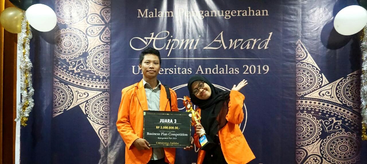 Potret Mahasiswa Teknik Kimia UISI  sebagai Juara 3 Business Plan Competition Entrepreneur Fair 2019