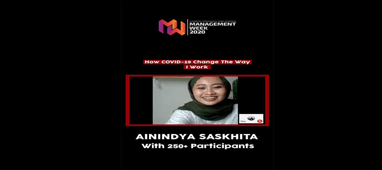 Anindya Saskhita di Webinar Management week 2020 hari ketiga