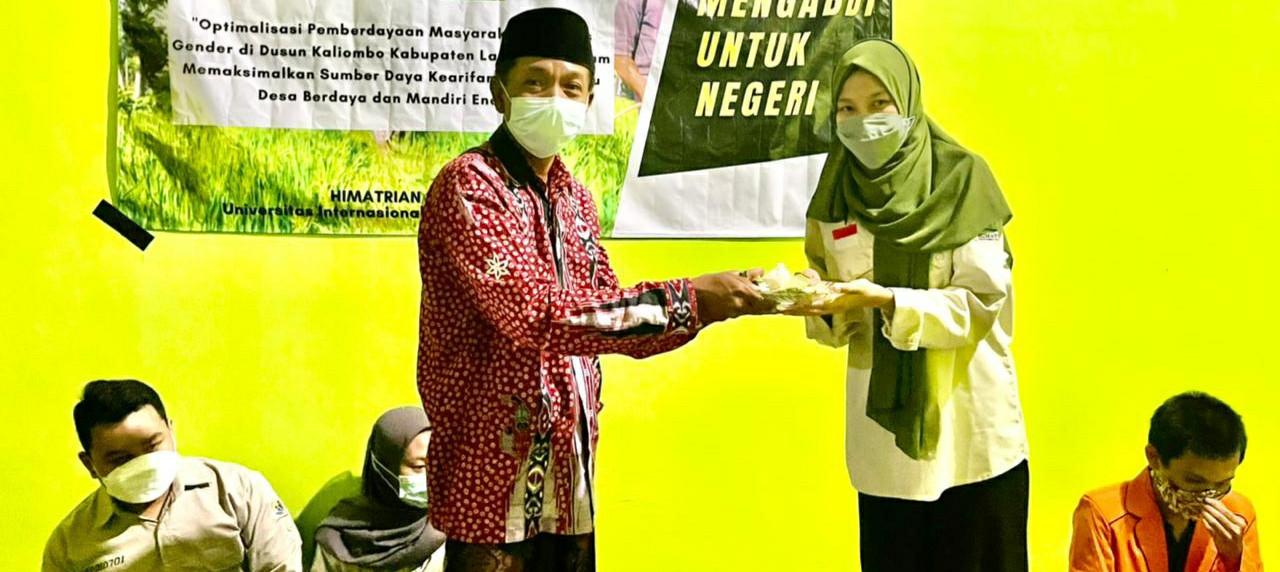 Pembukaan secara resmi oleh Bapak Suwadi selaku Kepala Dusun Kaliombo dengan menerapkan prokes.