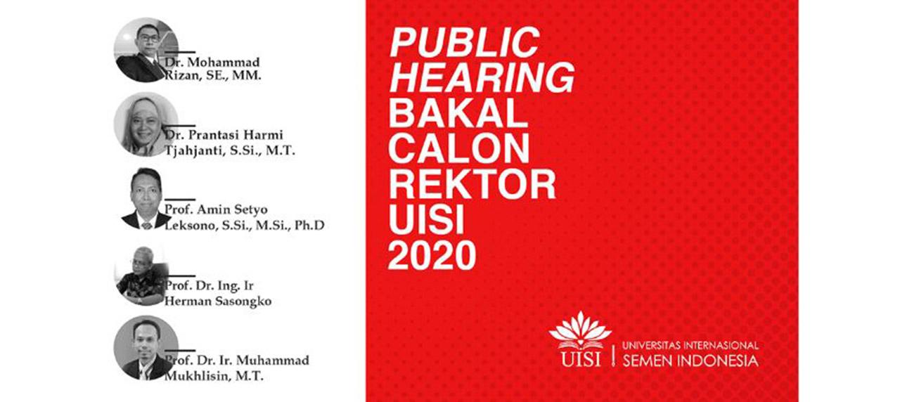 UISI Gelar Public Hearing Bakal Calon Rektor 2020 Via Google Hangout Meet.
