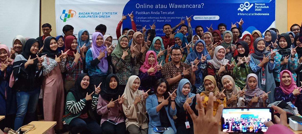Antusias Civitas Akademik UISI dalam mensukseskan Sensus Penduduk 2020