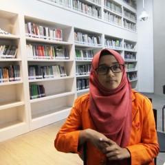 Aghnia Nadhira, mahasiswa  berprestasi UISI 2018,