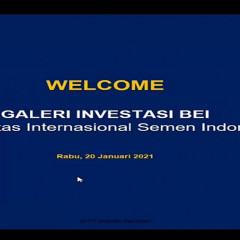 Pembukaan materi  basic technical analysis saham oleh GIBEI UISI dan Mandiri Sekuritas