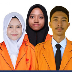 Tiga mahasiswa sebagai peneliti; Fitria Dwi Andriani, Janis Wardila Ningsih, dan Fathur Iqbal Hanafi