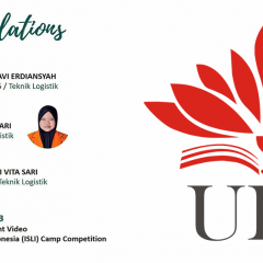 Pengumuman Mahasiswi Teknik Logistik peraih juara 3 lomba Creative Content Video