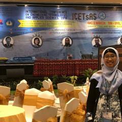 Oki Anita Candra Dewi, S.T. M.T. saat menghadiri ICeTsAS