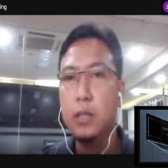 Muhammad Sokheh, S.Kom menjelaskan materi pentingnya keamanan data dan informasi di era digital.