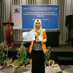 foto saat Aghnia Nadhira Abbad mengikuti PILMAPRES (Pemilihan Mahasiswa Berprestasi) 2018