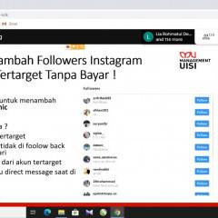 Alfina, S.M., M.M. saat menjelaskan bagaimana cara menambah followers di Instagram