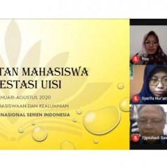forum penyambutan kepada 103 mahasiswa berprestasi via daring.