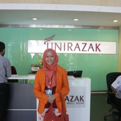 Aulia Hanni selepas short study di Universiti Tun Abdul Razak (UNIRAZAK), Malaysia.
