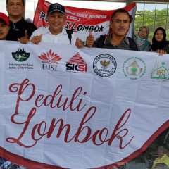 Para relawan Peduli Lombok