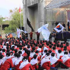 Parade Organisasi Mahasiwa UISI dalam rangkaian acara penutupan IO-CHAMPS 2018.