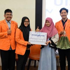 Salah satu juara dari tim PKM KC yang berasal dari Departemen Teknik Kimia