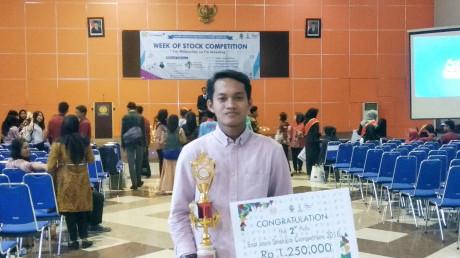 Hasil Jerih Payah Kukuh Ade di ajang East Java Stocklab Competition 2018.