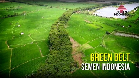 Area green belt disekitar tambang PT Semen Indonesia