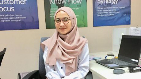 Siti Vine Intan Sania, S.T. alumnus Manajemen Rekayasa UISI 2019
