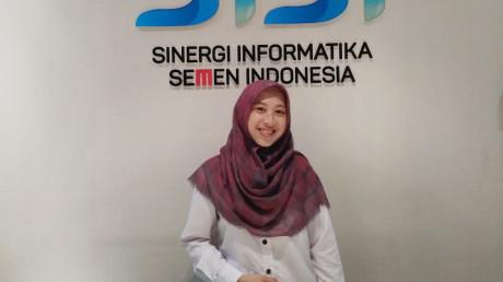 Potret Faricha Indina, S.T., Alumnus Manajemen Rekayasa UISI yang berkarir di PT. SISI
