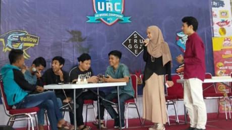 Keseruan peserta dalam babak penyisihan merebutkan gelar juara pada URC 2019