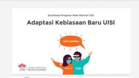 Beradaptasi adalah hal yang dilakukan oleh UISI dalam menghadapi era New Normal