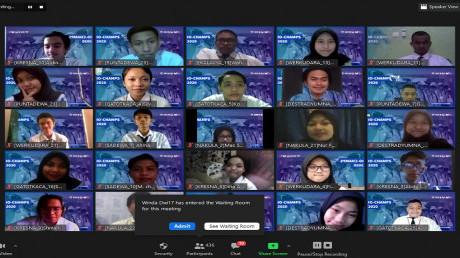 Pelaksanaan IO-CHAMPS 2020 hari pertama secara online diikuti dengan semangat oleh segenap Mahasiswa