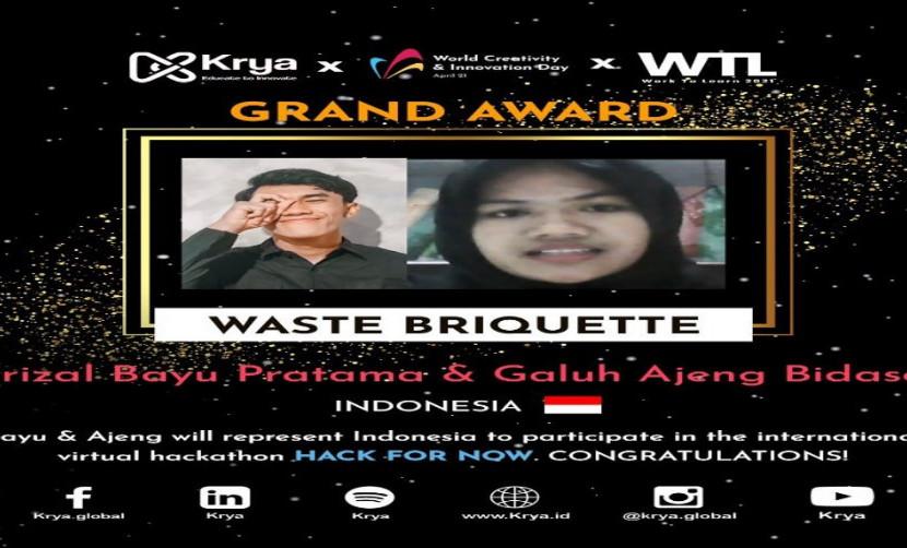Pengumuman Perolehan Penghargaan untuk Perwakilan UISI, Sumber: krya.global