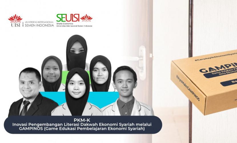 Tim Gampinos dari departemen Ekonomi Syariah UISI yang lolos pendanaan PKM-K 2021