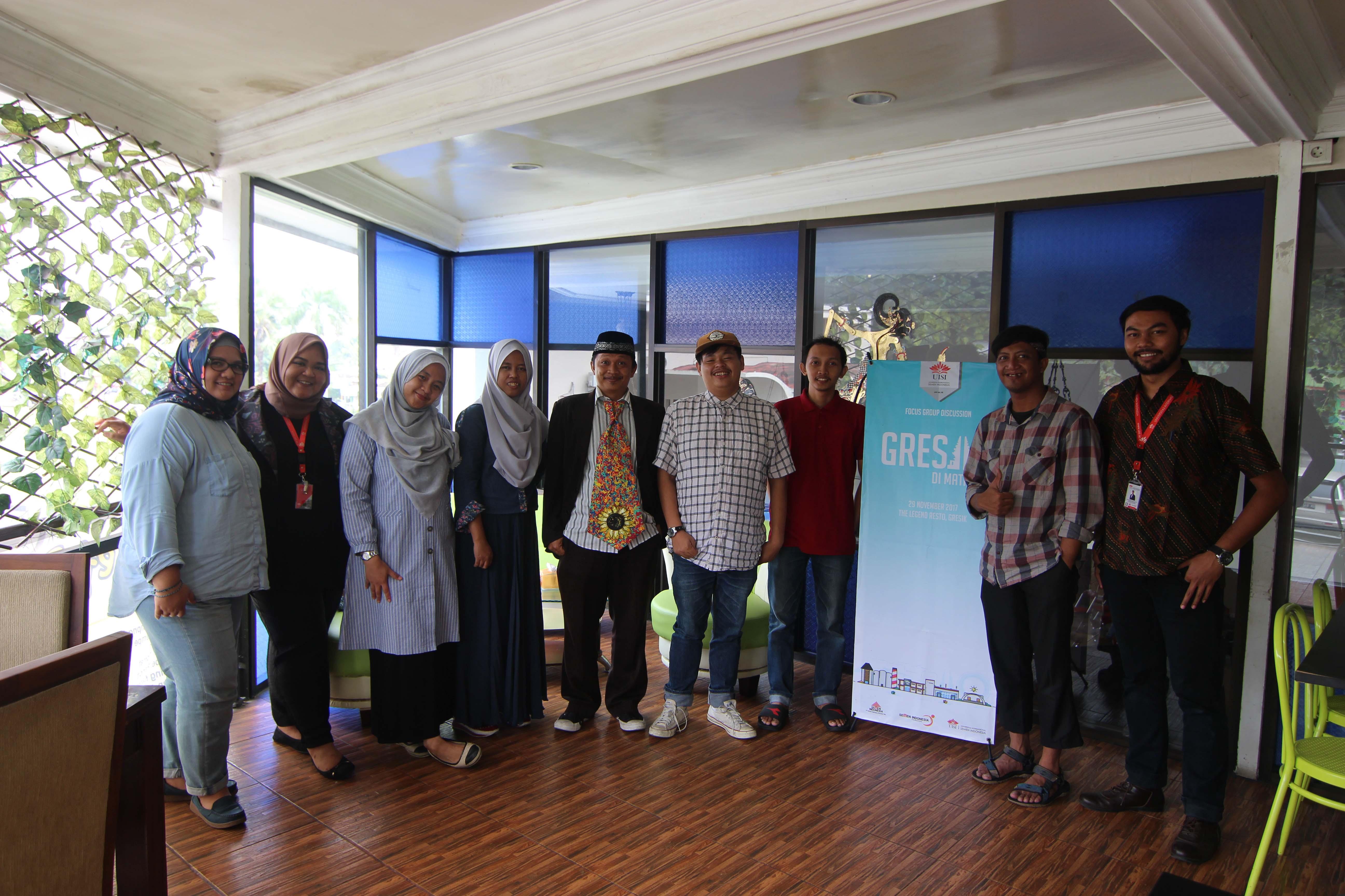 Tim LPPM UISI bersama para tokoh penting kota Gresik