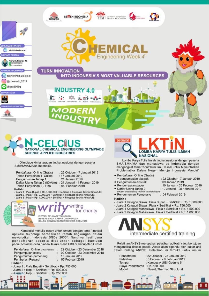 Chemical Engineering Week 4th